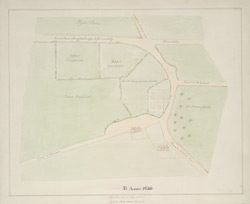 [Plan of the Goring Estate, showing the site of Goring House, on which Buckingham Palace is built]